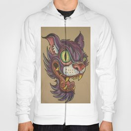 mean cat Hoody