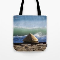 hats Tote Bags featuring Hats & Mats by jarjake
