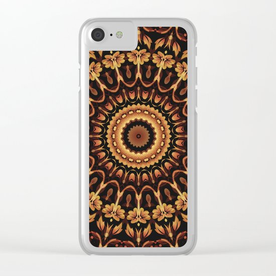 Autum Colors Mandala Clear iPhone Case