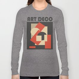 Geometrical abstract art deco mash-up Long Sleeve T-shirt