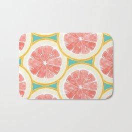 Grapefruit Pattern Bath Mat