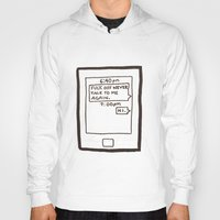 text Hoodies featuring Text by itishazel