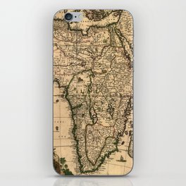 Vintage Map of Africa (1688) iPhone Skin