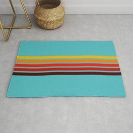 Abstract Minimal Retro Stripes 70s Style - Ietada Rug