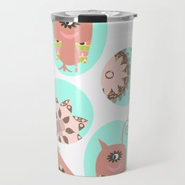 Monsters pattern 1m Travel Mug