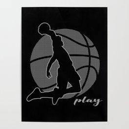 Basketball Player (monochrome) Poster