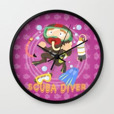 Scuba dive Wall Clock