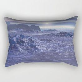 Frozen Sea of Neptune Rectangular Pillow