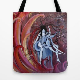 Rider to the Storm Tote Bag