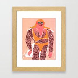 Beach Bod Framed Art Print