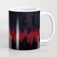 depression Mugs featuring Anger Feeds Depression by BRENT PRUITT