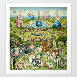 The Garden of Earthly Delights by Hieronymus Bosch Art Print