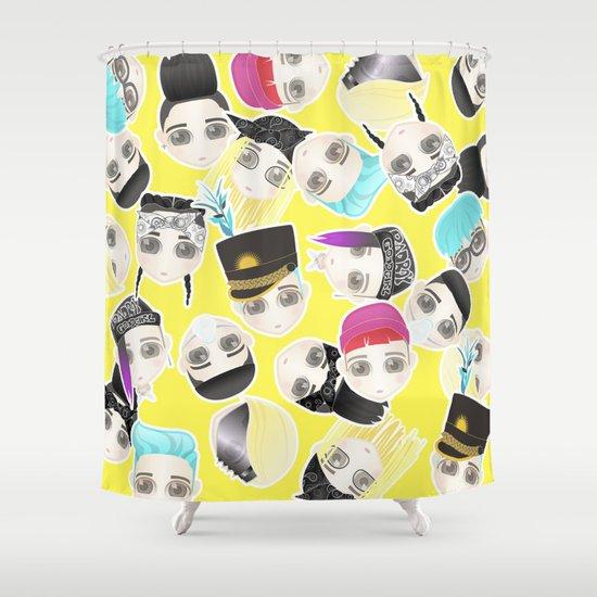 BIGBANG Collage (Yellow) Shower Curtain