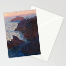Rocks at Belle-lle, Port-Domois by Claude Monet Stationery Cards