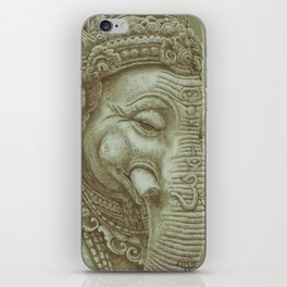 Ganesh green iPhone Skin
