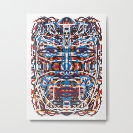 Mystic Tribal Portrait Mandala  Metal Print