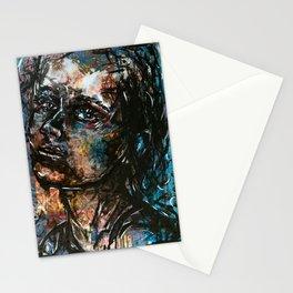 Dark portrait Stationery Cards