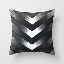 Charcoal Point Throw Pillow