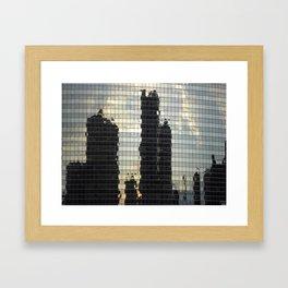 Reflections of Chicago  Framed Art Print