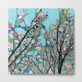 Abstract Multi-coloured Forest 1772 Metal Print