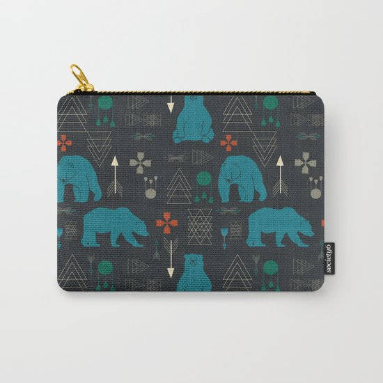 Tribal Bear Carry-All Pouch