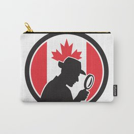 Canadian Private Investigator Canada Flag Icon Carry-All Pouch