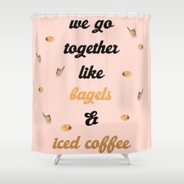 Bagels and Iced Coffee Shower Curtain