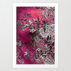 Pink Chinese Silk Art Print