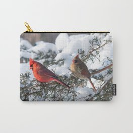 Sunny Winter Cardinals in the Adirondacks Carry-All Pouch