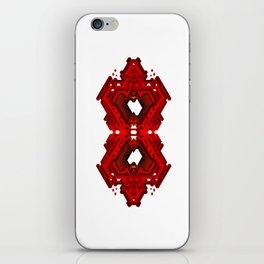 Infinite Red Hex -0 iPhone Skin