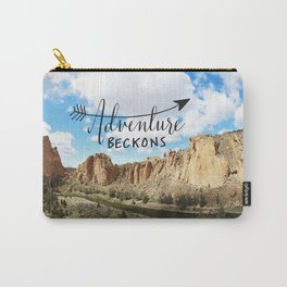 adventure beckons- Smith Rock Oregon Carry-All Pouch