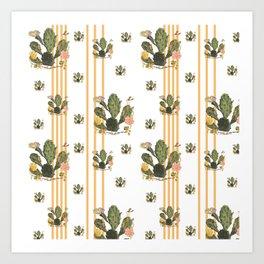 Cactus Stripe Art Print