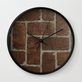 Brick Pattern in Spain Wall Clock
