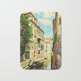 Venezia - Venice Italy Vintage Travel Bath Mat