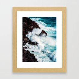 CONFRONTING THE STORM Framed Art Print