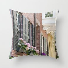 Beacon Hill Brownstones Throw Pillow