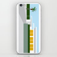 mid century modern iPhone & iPod Skins featuring mid-century modern house one by Aubrey Doodle