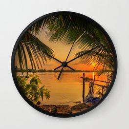 Sunset in Hoi An Vietnam Wall Clock