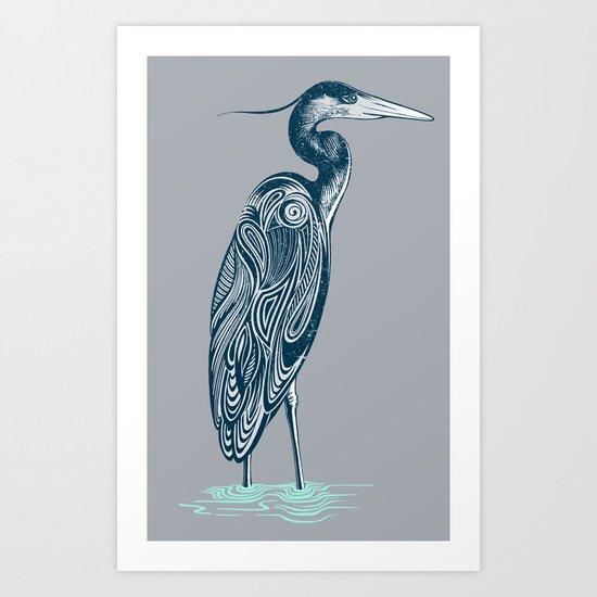 Bewitching blue heron Art Print