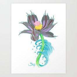 Pink Diamond Mech Lotus Art Print