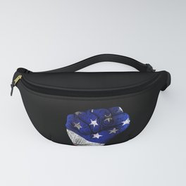 America Fist American Flag design Gift for USA Patriots Fanny Pack