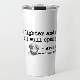 Archimedes Walks Into A Bar #1 Travel Mug