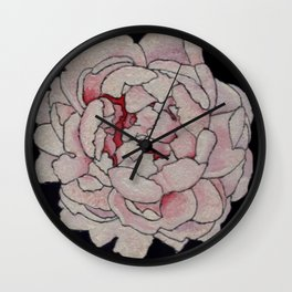 Stained Glass Peony Wall Clock