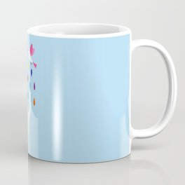 Baby elephant and bird Coffee Mug