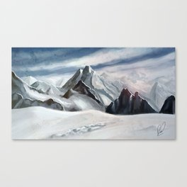 Snow Mountains Canvas Print