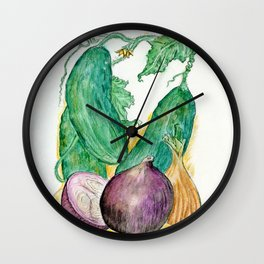 Onions and Cukes Wall Clock
