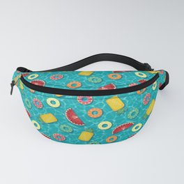 Fruit Salad Pool Floats Pattern – Turquoise Fanny Pack