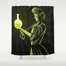 marie curie radioactive experiment Shower Curtain