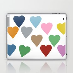 Hearts Colour Laptop & iPad Skin