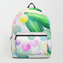 mermaid with colorful bubbles Backpack